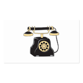 Colector antiguo de encargo del teléfono del dial tarjeta de visita