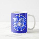 Colector azul del sueño del rosario taza
