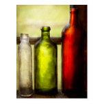 Colector - botellas - todavía vida de tres botella tarjetas postales