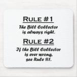 Colector de Bill de la regla Alfombrilla De Ratón