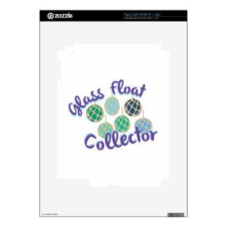 Colector de cristal del flotador iPad 2 skins