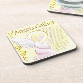 Colector de la poesía del frunce de los ángeles posavasos de bebida