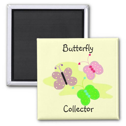 Colector de mariposa imán cuadrado