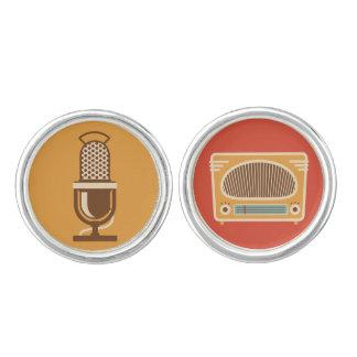 Colector de radio del tubo vintage gemelos
