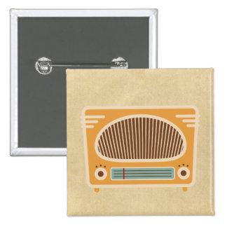 Colector de radio del tubo vintage pin cuadrado