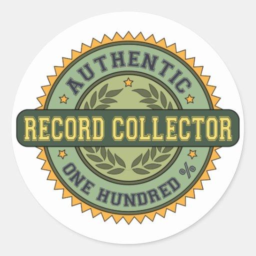 Colector de registro auténtico pegatinas redondas