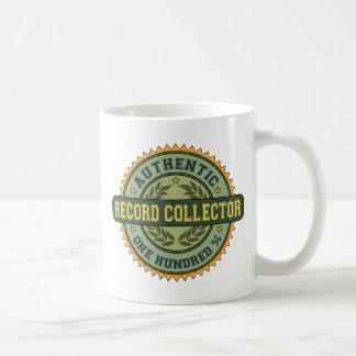 Colector de registro auténtico taza de café
