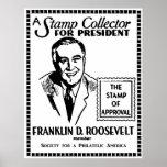 Colector de sello 1936 FDR para el presidente Posters