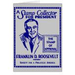 Colector de sello 1936 FDR para el presidente Felicitaciones