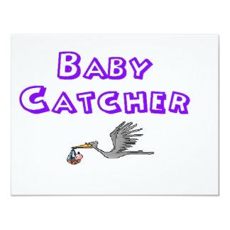 colector del bebé invitación 10,8 x 13,9 cm