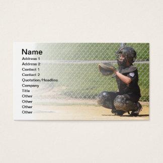 colector del béisbol de la liga pequeña tarjetas de visita