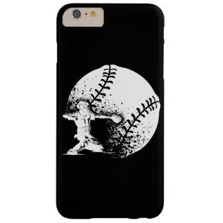 Colector del béisbol en la meta con una bola del funda para iPhone 6 plus barely there