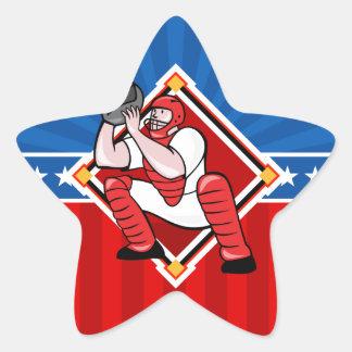 Colector del béisbol pegatina en forma de estrella