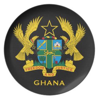 Colector del escudo de armas de Ghana* Plato Para Fiesta