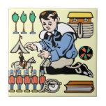 Colector del juguete azulejo