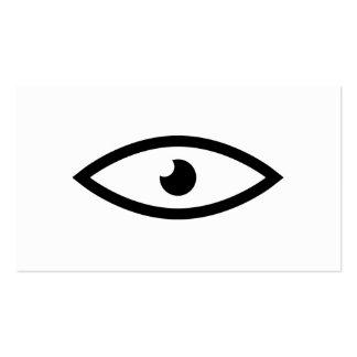 Colector del ojo tarjetas de visita