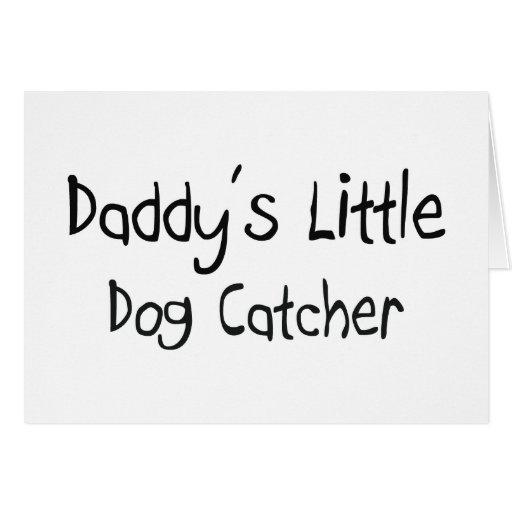 Colector del pequeño perro del papá tarjeta