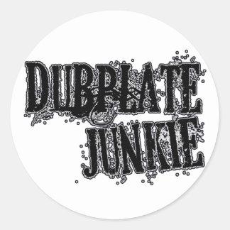 Colector Dubstep DJ del vinilo del drogadicto de Pegatina Redonda