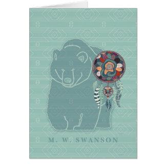 Colector ideal con el nativo americano verde del tarjeta pequeña