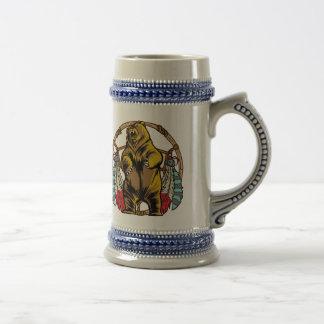Colector ideal del oso jarra de cerveza