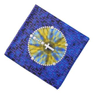Colector ideal del rosario azul y amarillo bandanas