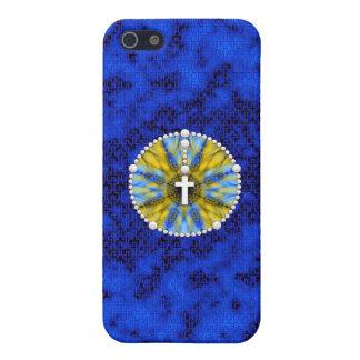 Colector ideal del rosario azul y amarillo iPhone 5 fundas