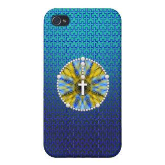 Colector ideal del rosario azul y amarillo iPhone 4/4S fundas