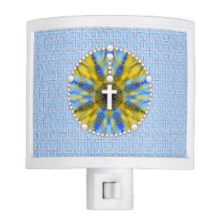 Colector ideal del rosario azul y amarillo lámparas de noche