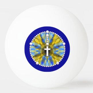 Colector ideal del rosario azul y amarillo pelota de tenis de mesa