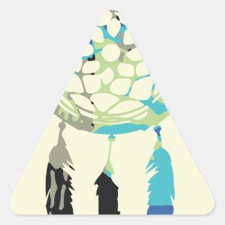 Colector ideal pegatina triangular