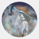 Colector ideal - pegatina del arte del lobo del al