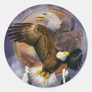 Colector ideal - pegatinas del arte de Eagles del Pegatina Redonda