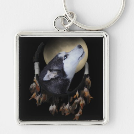 Colector ideal y perro esquimal observado azul llaveros