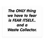 Colector inútil del miedo tarjetas postales