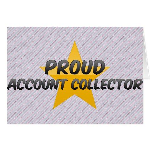 Colector orgulloso de la cuenta felicitación