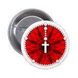 Colector rojo del sueño del rosario pins