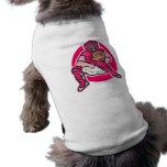 Colector rosado camisas de mascota
