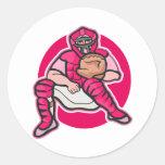 Colector rosado etiquetas redondas