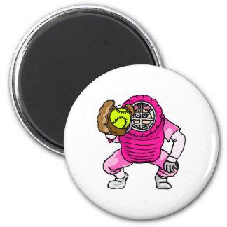 Colector rosado imán redondo 5 cm