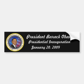 COLECTORES de la inauguración de Obama de la Pegatina Para Auto