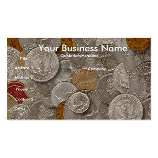 Colectores de moneda, tarjeta de visita