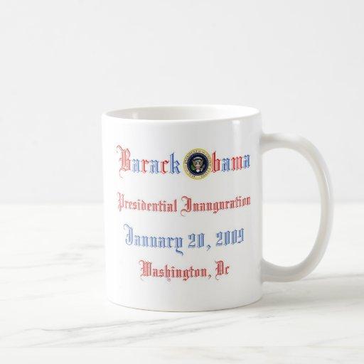 Colectores del recuerdo de la inauguración de Obam Taza Básica Blanca