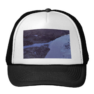Coleen River Aerial View Mesh Hats