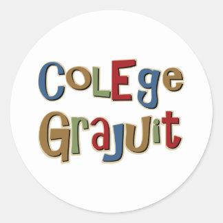 Colege Grajuit Classic Round Sticker