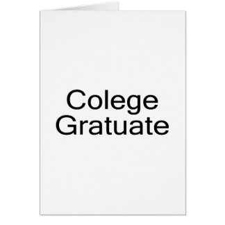 Colege Gratuate (College Graduate) Card