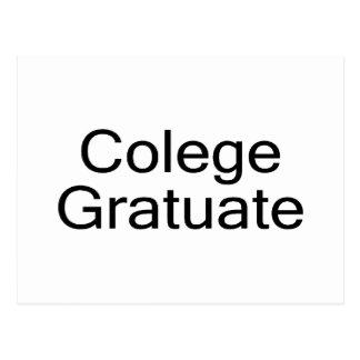 Colege Gratuate (College Graduate) Postcard