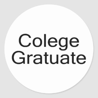 Colege Gratuate (graduado de la universidad) Pegatina Redonda