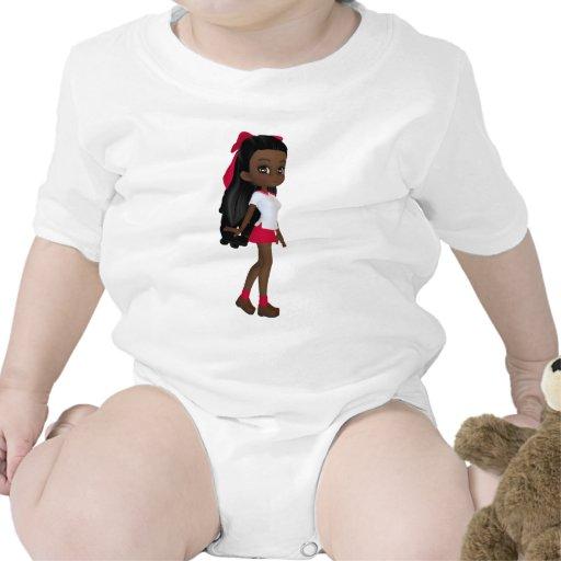 Colegiala afroamericana trajes de bebé