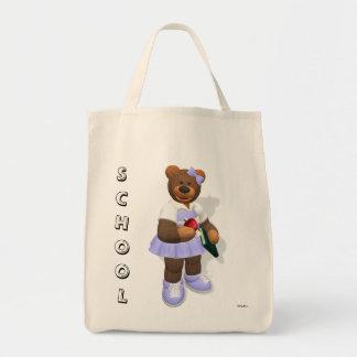 Colegiala pequeña de los osos bolsa de mano