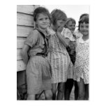 Colegialas en la Gran Depresión, los años 30 Tarjeta Postal